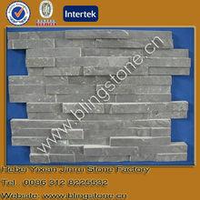 Black slate layered interior wall stone decoration