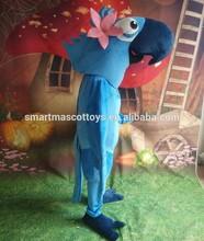 Life size cartoon Rio Jewel parrot mascot costume for party Jewel parrot mascot costume