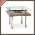 largo y estrecho de mesa de acero inoxidable de mesa de madera recuperada zyt002