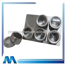 stainless steel spice tin spice box with magnetic rack magnetic spice jar set