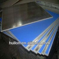 PVC laminated gypsum board with aluminum foil back