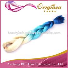Ombre 100% Kanekalon Ultra Jumbo Braiding,Synthetic Hair Braid,X -Pression Braid