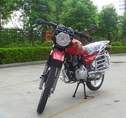 On rough off road 125cc 150cc motor bike