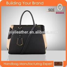 V327-2015 Newest fashion genuine leather hand bag women ladies shoulder strap bag