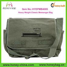 2014 Heavy Weight Popular Amy Green Classic Men Canvas Messenger Bags