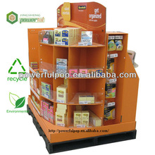 retailer,suppermarket,paper,corrugated cardboard,pallet display for Cosmetic promotion,