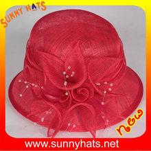 Fancy sinamay wedding hats and caps wholesaler/manufacturer