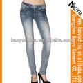 Mezcla de stock baratos pantalones vaqueros pantalones vaqueros de marca de marca personalizada de mezclilla pantalones vaqueros de mezclilla botas( hyw1189)