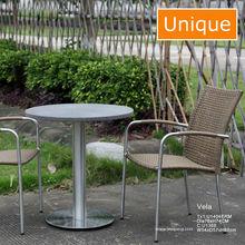 Modern Cheap hot sale alum rattan outdoor garden dining chair