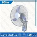 Venda quente 16 polegada 12 v solar dc ventilador pequeno ventiladores de parede