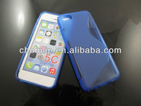 TPU Gel Case Cover S-shape Design For iphone5C