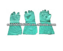 for cleanhouse workshop hospital use Examination,Laboratory AQL 1.5 Green Chemical Resistance Nitrile Gloves