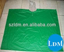 100% green custom printed designer rain ponchos