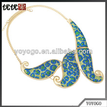 Fashion Ladies Beautiful Jewelry Channel Resin Alloy Choker Necklace