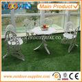 Antiguos de hierro fundido jardín b&m de fundición de aluminio muebles del patio