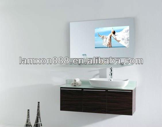 Tv salle de bain miroir avec la lumi re - Miroir avec lumiere salle de bain ...