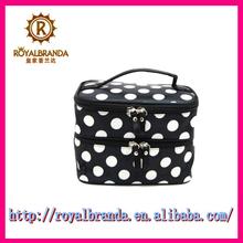 Fashion high-end modern cometic easy bags black dot tote bag