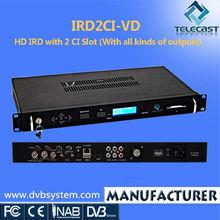 High quality HD 2 CI AES/EBU IRD
