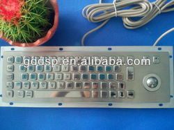 High Quality Stainless Steel Metal Dome Keyboard With Trackball