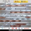 silver mix pink stainless steel mix aluminum alloy wall decorative tiles