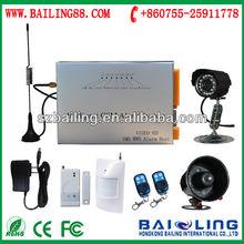 intelligent GSM alarm system with camera(BL5050) make it widely applied in workstation,Hotel, Hospital, shops,TVstation