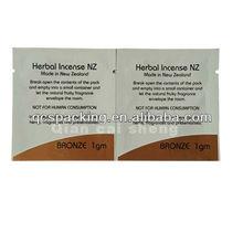 Flat foil shampoo packaging pouch