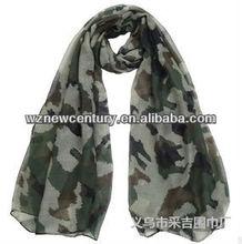 Palestine military camouflage voile silk scarf
