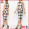 Black and white stripe midi dress latest dress designs for lady dress