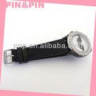high quality economical black pvc diamond edge watch