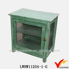 FSC multi drawers antique finish wood craft wall storage cabinet