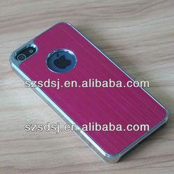 Fashion brushed aluminum phone case for apple iphone5