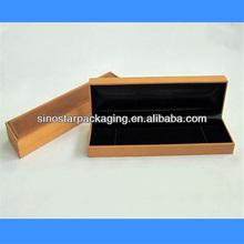 Two tone high quality long shape women's watch box in watch box manufacturer