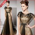 coniefox 81516 atacado ouro cap manga longa vestido de moda feminina