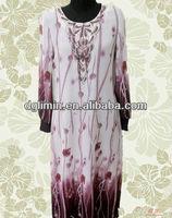 Long Sleeve Ladies Official Color Block Dress Model Kebaya