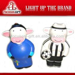 Customized Design Animal shape PU cow stress ball