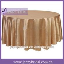 TC007C champagne satin cheap table cloth underlay table cloth