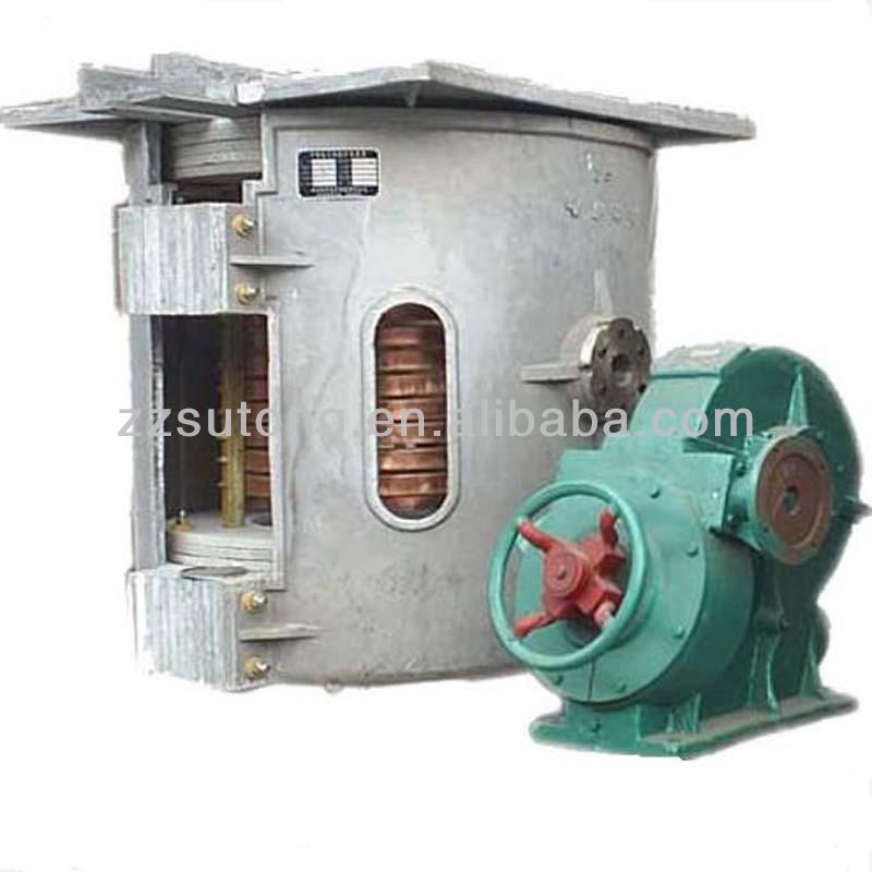 scrap iron melting furnace through electro-magnetic induction