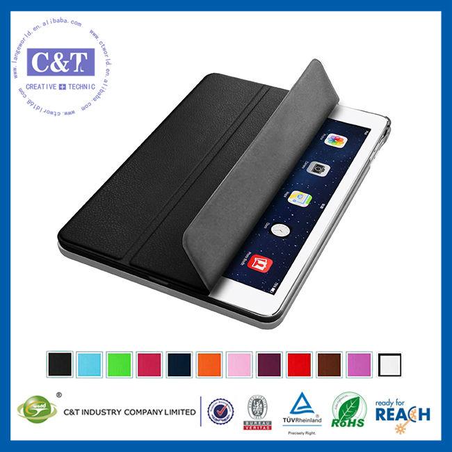 C&T Flip Magnetic Smart Wake/Sleep Protective leather case for ipad 5