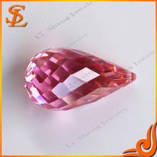 Facet Pink CZ Imitation Jewellery Making