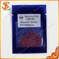 高品質ルビーの宝石卸売ラウンド1.2mm5#rubyマシンカット石