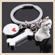 Live dog Zinc Alloy key holder , Cartoon characters key chains , lovely live animal keychain