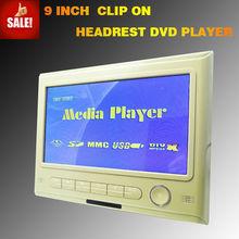 "Hot Sales 9""Hd Digital Panel Portable Car Headrest Dvd"