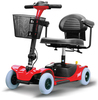 collapsible four wheel mobility scooter