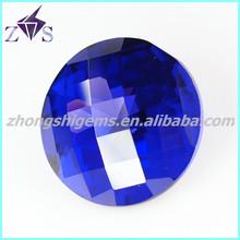 round shape checker cut precious cz stone beads
