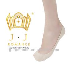 Skin Color Collagen Fiber Womens Seamless Socks Women Boat Socks