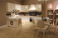 Antique Kitchen Cabinet in European Style,Classic Wooden Kitchen Design,White Custom Display Kitchen Cabinet for Sale(BF08-7028)