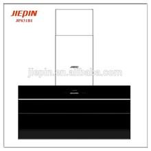 Nuovo stile italiano parete sottile vetro curvo cucina cappa camino jp831b1/di aspirazione automatica stufa a gas cofano
