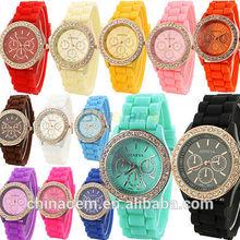 2014 new design, clolourful, women watch, geneva silicon watch. Korea watch