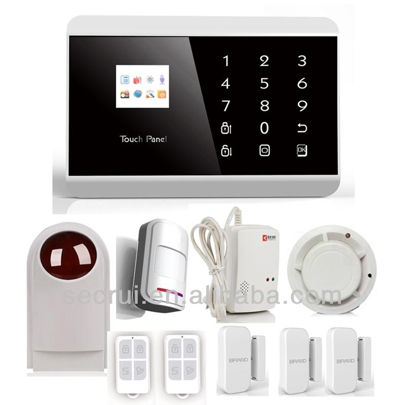 Touch Keypad Gsm Pstn Wireless Intelligent Burglar Fire Alarm ...