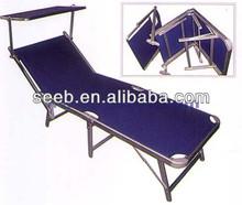 Aluminum tube single sunshade cap folding beds